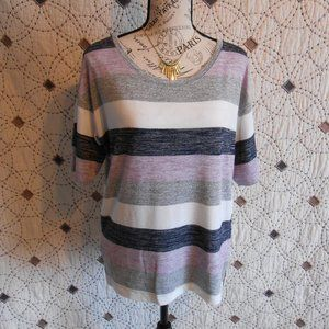 3/$10 EUC Gap Multi Striped Half Sleeve Top S